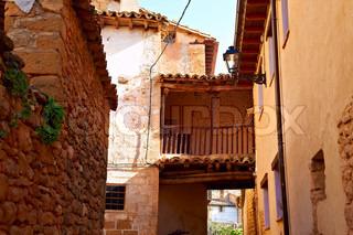 Das Courtyard einer typischen spanischen Mittelalterliches Haus