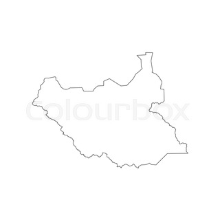 South Africa Map Outline On The White Stock Vector Colourbox