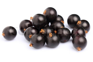 Ripe blackcurrant in closeup