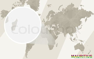 Highly Detailed Vector Map Of Mauritius With Administrative - Mauritius map in world map