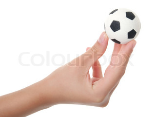 Teenager-Hand, die hält Sport ball