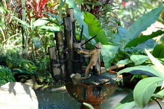 Water mill in the Butterfly Garden, Thailand