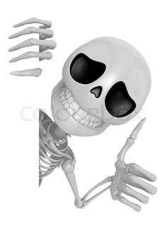Right Hand Holding Skull