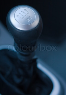 Gear shift handle in a modern car