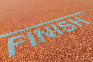 Athlete track finish sign