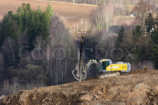 Mining equipment in the quarry, Czech Republic