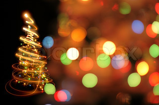 abstract color background from the christmas lights