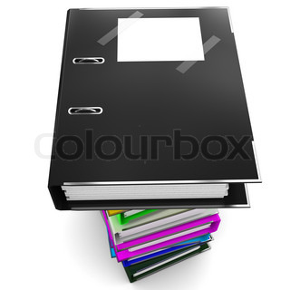 Black office folder for papers - a symbol of black accounting