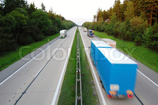 Traffic on D1 motorway in the Czech Republic