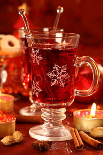 Hot wine punch for Christmas