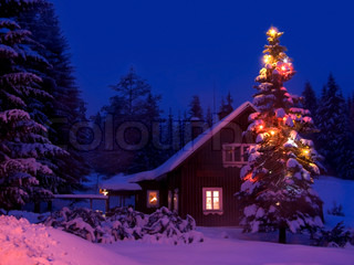 The poetic Christmas evening