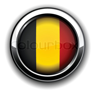Vector illustration of national Belgian flag icon