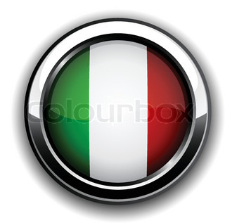 Vector illustration of national italian flag icon
