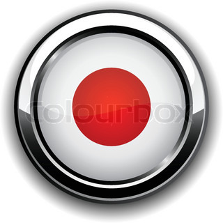 Vector illustration of national Japanese flag icon