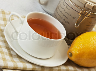 floral fruity tea on the table