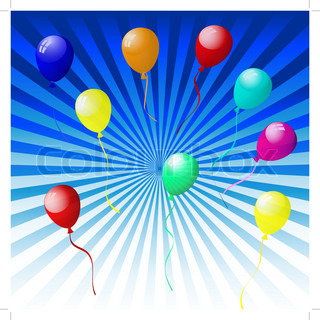 Pics Photos - Beautiful Balloons In The Air Vector Illustration