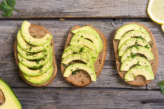 Healthy Sandwich With Bread And Avocado