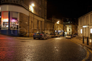 illuminated street scenery in Stirling