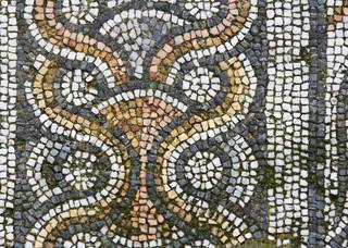 Blaue Scherbe Mosaik Sehr geeignet für Hintergrund und Textur, Stock ...