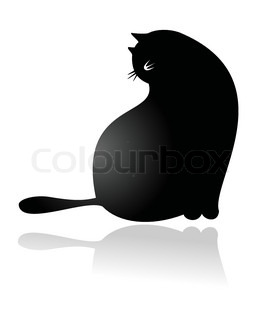 Big fat funny cartoonish cat vector