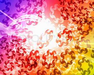 Abstract bright colourful background with spots of light