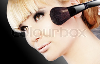 Studio -Serie zu tun fashion smokey Augen Make-up