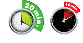 Set of 10 and 20 minutes timer Vector illustration