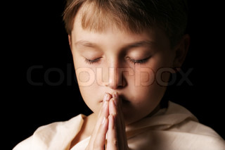 Child in prayer - softness added