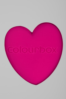 Acrylic heart shape miniature, great for Valentine's day background designs