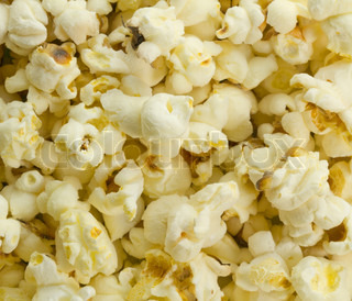 background of popcorn closeup