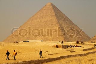 People at the Pyramids