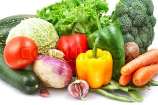 Gemüse isoliert auf weiss