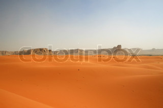 Sand storm in