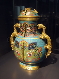 Ancient chinese vase in museum