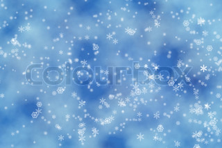 Abstract background of candlelights with snpwflakes for winter and Christmas