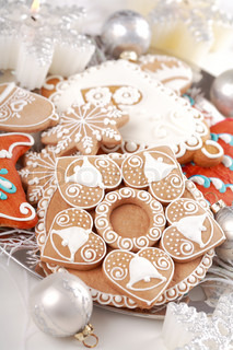 Detail of delicious Christmas gingerbread