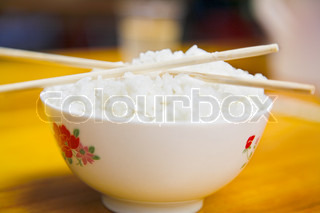 Chinese food bowl of noodles and chopsticks