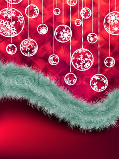 Elegant purple christmas background with baubles