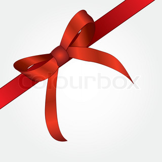 Red ribbon for a festive gift Vector illustration