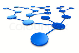 network on white background Isolated 3D image