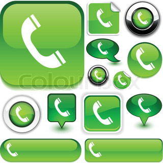 Telephone vector glossy icons