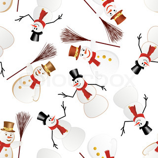 Snowman seamless pattern For easy making seamless pattern just drag all group into swatches bar, and use it for filling any contours