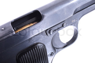 gun isolated on the white background