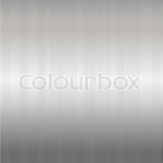 Brushed Silver Metallic Background, Vector Illustration
