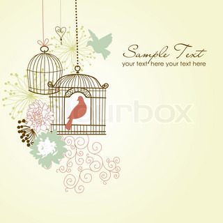 Beautiful card with two birds