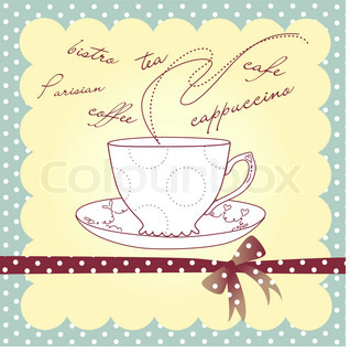 Cup of coffee or tea Vector illustration