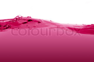 Pink liquid wave isolated on a white background