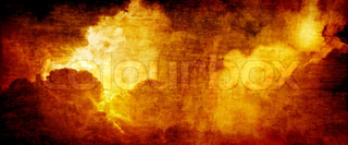 Dramatic apocalyptic background - glowing dark red clouds, hell
