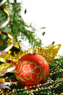 Christmas bauble on a white background