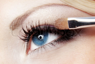 Close up Foto von Mode Augen Make-up